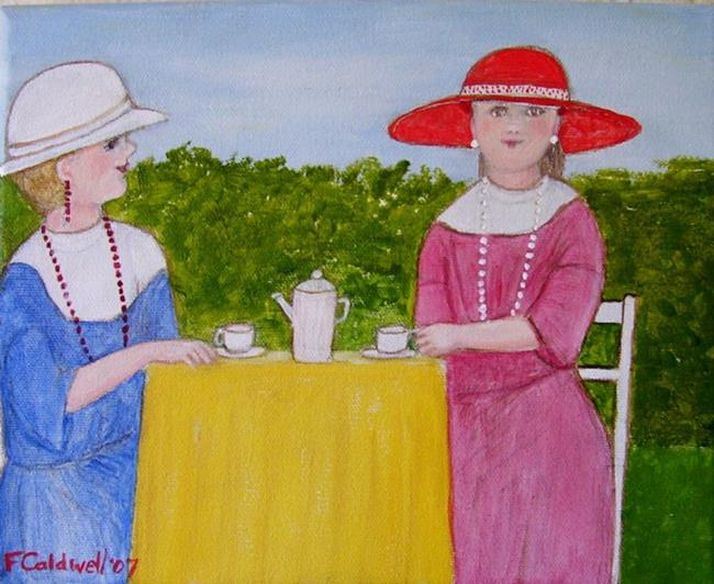 Art: Tea with Emily by Artist Fran Caldwell