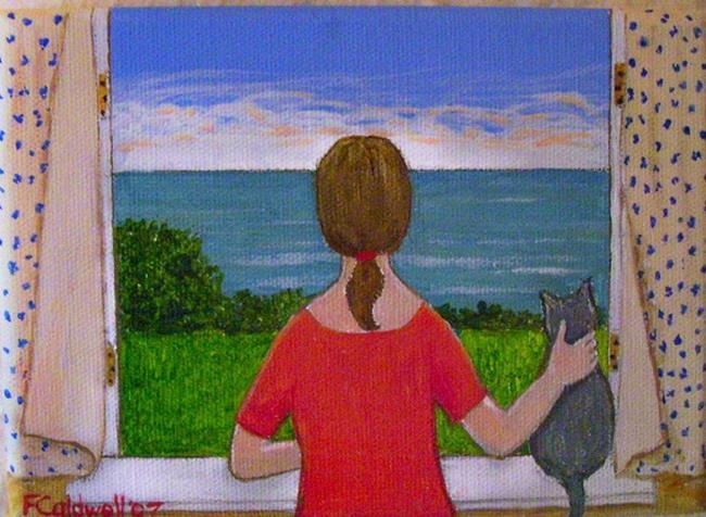 Art: Sea View (Sold) by Artist Fran Caldwell