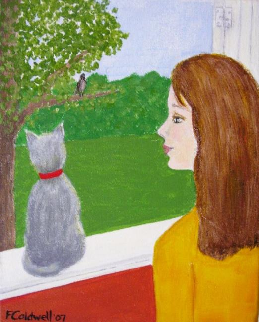 Art: If Little Cats Could Fly (SOLD) by Artist Fran Caldwell