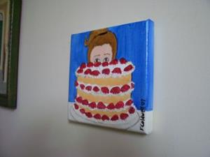 Detail Image for art Strawberry Gateau (Sold)