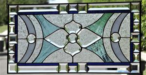 Detail Image for art -Angel -Beveled Stained Glass Window Panel •