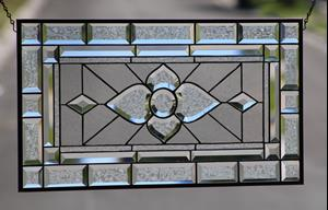 Detail Image for art Clearly Beautiful Beveled Stained Glass Panel
