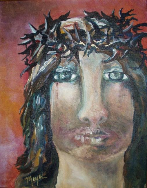 Art: JESUS BRUISED by Artist Gail Meyer
