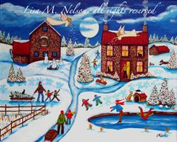 Art: Snow Angels by Artist Lisa M. Nelson