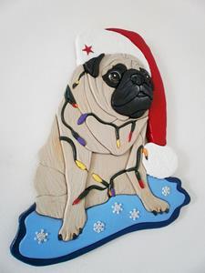 Detail Image for art Christmas Pug..
