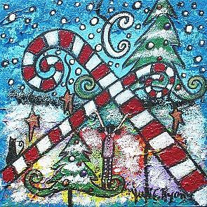 Art: Christmas Dreams by Artist Juli Cady Ryan