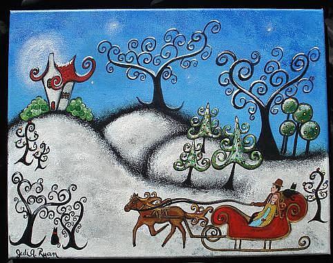 Art: The Magical Sleigh Ride by Artist Juli Cady Ryan