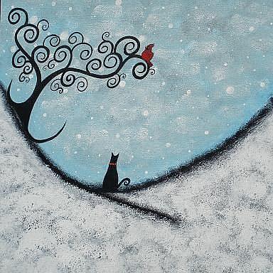Art: A Cat's Christmas by Artist Juli Cady Ryan