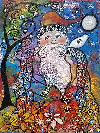 Art: Old St. Nick by Artist Juli Cady Ryan