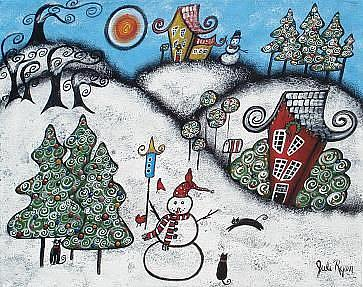 A Magical, Merry Christmas - by Juli Cady Ryan from Paintings Oils ...