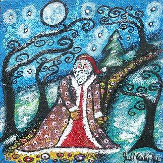 Art: Santa's Walk by Artist Juli Cady Ryan