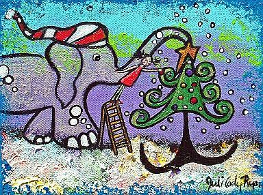 Art: Christmas Delight by Artist Juli Cady Ryan