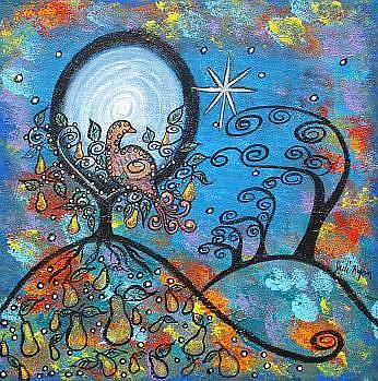 Art: Magical Partridge In A Pear Tree by Artist Juli Cady Ryan