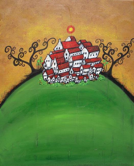 Art: The Tiny Town by Artist Juli Cady Ryan