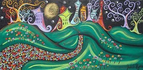 Art: Enchanted City II by Artist Juli Cady Ryan