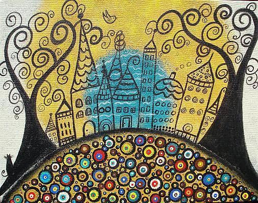 Art: The Merry, Little City by Artist Juli Cady Ryan