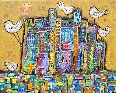 Art: Peace In The City by Artist Juli Cady Ryan