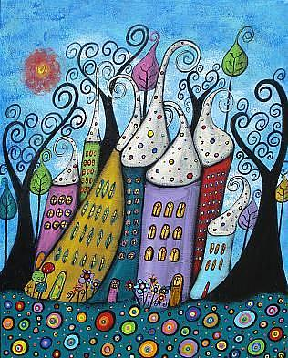 Art: The Joyful Town by Artist Juli Cady Ryan