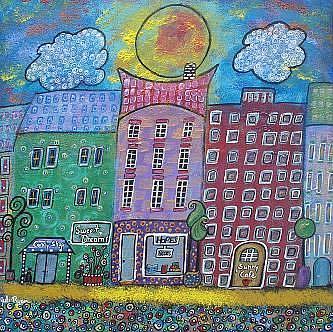 Art: Happy. Little Downtown by Artist Juli Cady Ryan