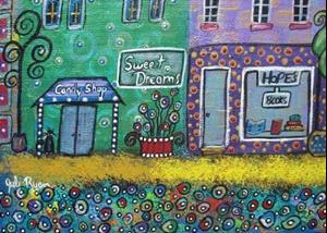 Detail Image for art Happy. Little Downtown