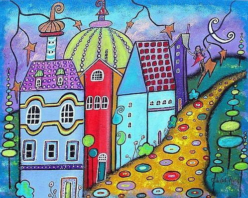 Art: Welcome To The Neighborhhood by Artist Juli Cady Ryan