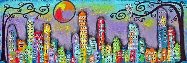 Art: Sunset In The City by Artist Juli Cady Ryan