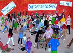 Art: Women's Club (Sold) by Artist Fran Caldwell
