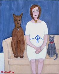 Art: Gladys and the Kids by Artist Fran Caldwell
