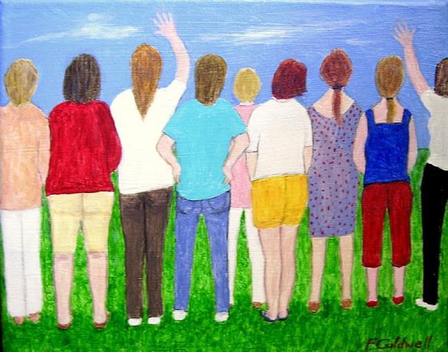 Art: Soccer Mums (Sold) by Artist Fran Caldwell