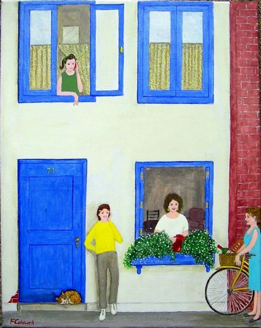 Art: Small Talk (Sold) by Artist Fran Caldwell