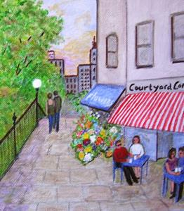 Detail Image for art Courtyard Cafe (Sold)