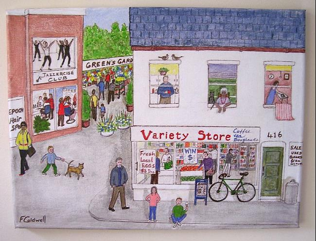 Art: The Neighbourhood (Sold) by Artist Fran Caldwell