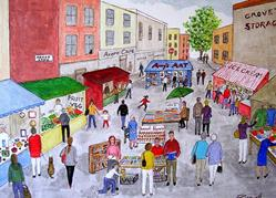 Art: Market Day by Artist Fran Caldwell
