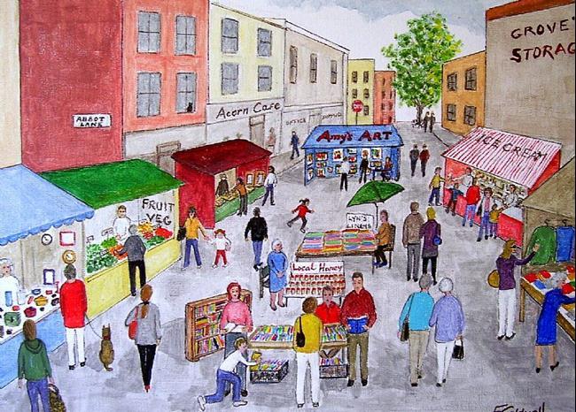 Art: Market Day by Artist Fran Caldwell