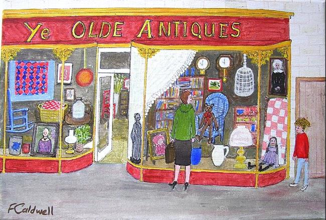 Art: Ye Olde Antiques by Artist Fran Caldwell