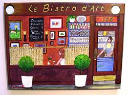 Art: Le Bistro d'Art by Artist Fran Caldwell
