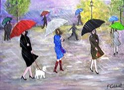 Art: Rain, Rain, Go Away (Sold) by Artist Fran Caldwell