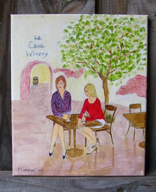 Art: Girl Talk (Not for sale) by Artist Fran Caldwell