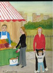 Art: Lunch in the Park (SOLD) by Artist Fran Caldwell