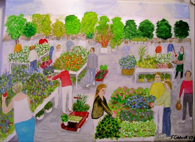 Art: Garden Center (SOLD) by Artist Fran Caldwell