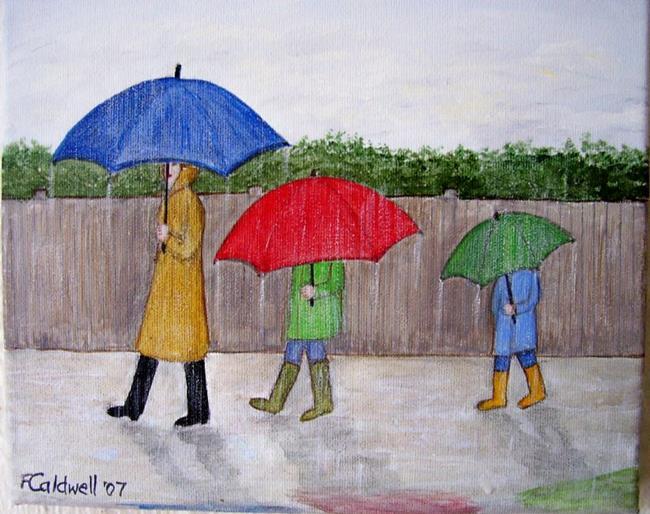 Art: Spring Rain (Sold) by Artist Fran Caldwell