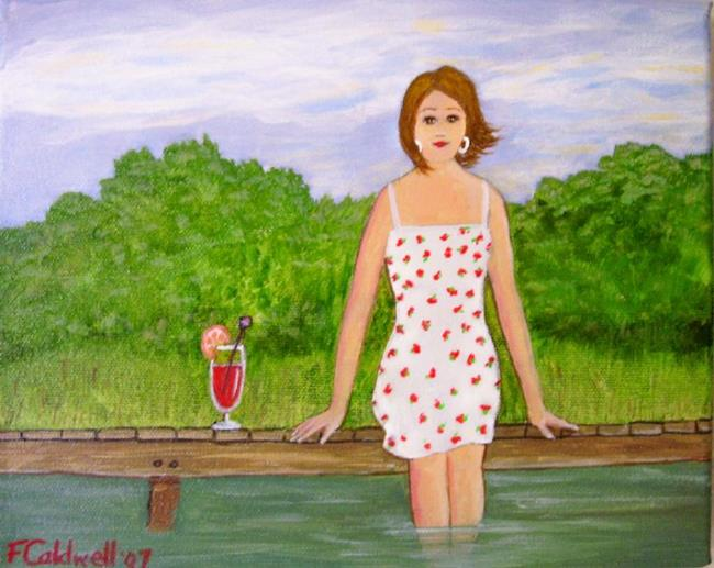 Art: The Dock (SOLD) by Artist Fran Caldwell