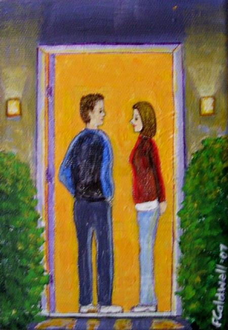 Art: First Date by Artist Fran Caldwell
