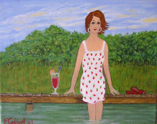 Art: Dock Encore! (SOLD) by Artist Fran Caldwell