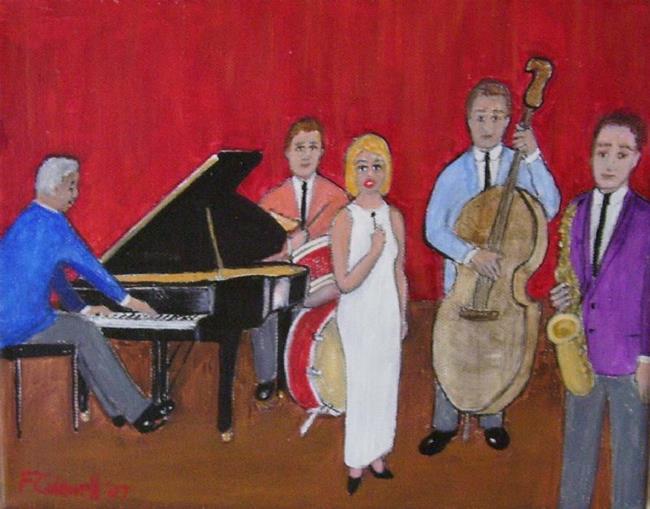 Art: Sunday Night Blues (SOLD) by Artist Fran Caldwell