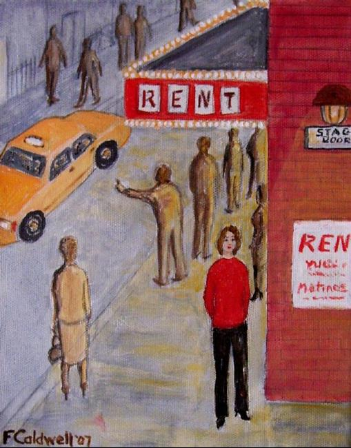 Art: Stage Door (Not for Sale) by Artist Fran Caldwell