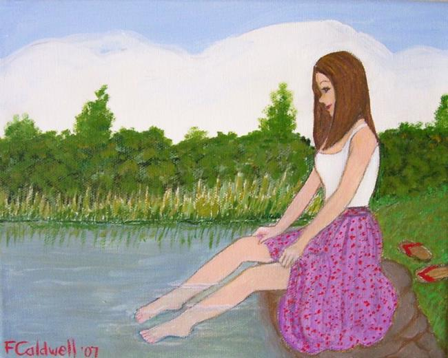 Art: Oasis (Sold) by Artist Fran Caldwell