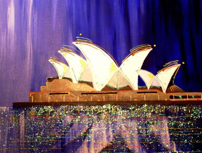 Art: A Night At The Opera $200.00 SOLD by Artist Barry Hunt