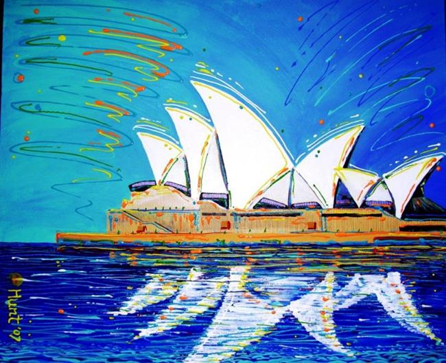 Art: Opera House #1 $200.00 SOLD by Artist Barry Hunt