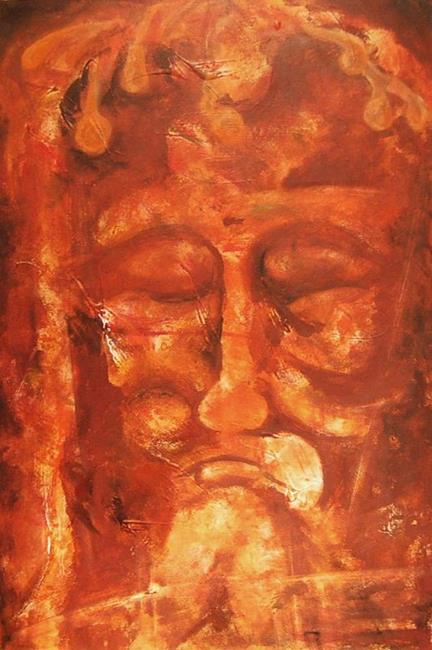Art: The Shroud of Turin (SOLD) by Artist Barry Hunt